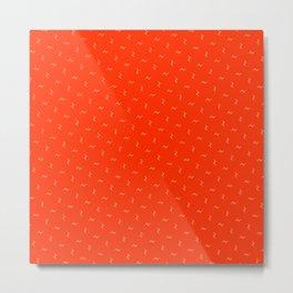 Bright Orange Sun-kiss Pattern Metal Print