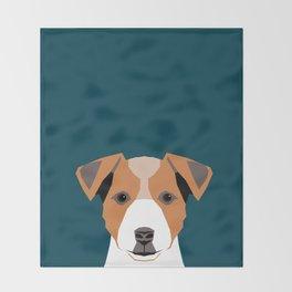 Bailey - Jack Russell Terrier phone case art print gift for dog people Jack Russell Terrier owners Throw Blanket