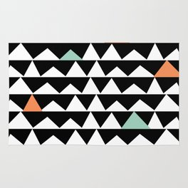 Tribal Triangles, Geometric Aztec Andes Pattern Rug