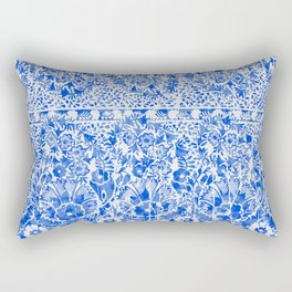 sun floral paisley in ocean blue Rectangular Pillow