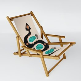Southwestern Slither in Black Sling Chair