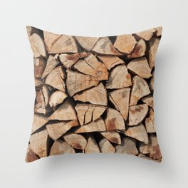 Stock for winter Throw Pillow