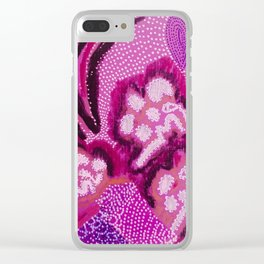 Purple  Floral Boho Clear iPhone Case