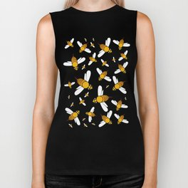 Bees on Yellow Biker Tank