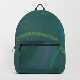 Geometric Gold Dust Circle Abstract Backpack