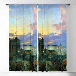 Theodor Groll Indianapolis at Dusk Blackout Curtain