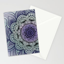 Mandala Violet Stationery Cards