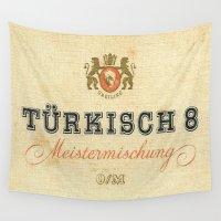 cigarette Wall Tapestries featuring Turkisch 8 - Vintage Cigarette by Fernando Vieira