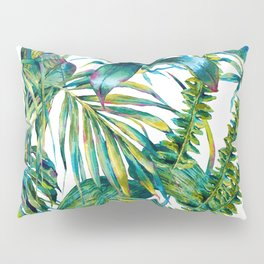 nature leaves exotic watercolor I Pillow Sham