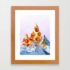 Pepperoni Pizza Peaks Framed Art Print