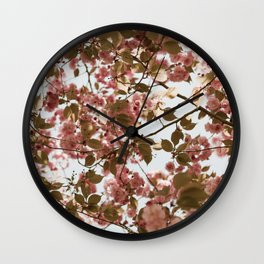 Cherry Blossoms Bloom in Brooklyn Wall Clock