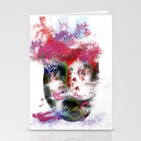 no face Stationery Cards featuring Face by Marian - Claudiu Bortan