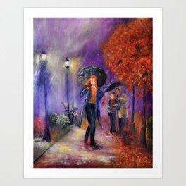 Evening Walk Art Print