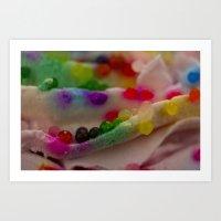 sprinkles Art Prints featuring Sprinkles by PinkRadish