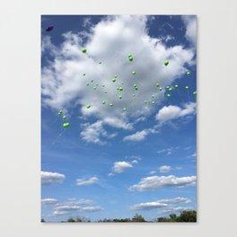 Lyme Green Balloon Launch - Ticks :( Canvas Print