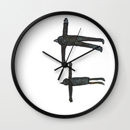 Flight Pair Wall Clock
