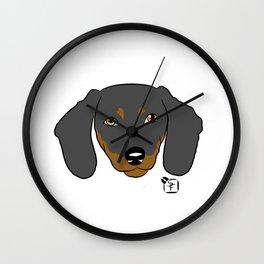 Dachshund Face Wall Clock