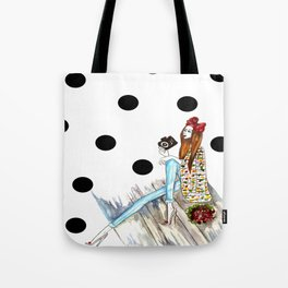Dots & bow Tote Bag