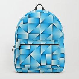 Blue Geo Pattern Backpack