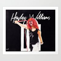 hayley williams Art Prints featuring Hayley Williams 2011 Tour by Adora Chloe