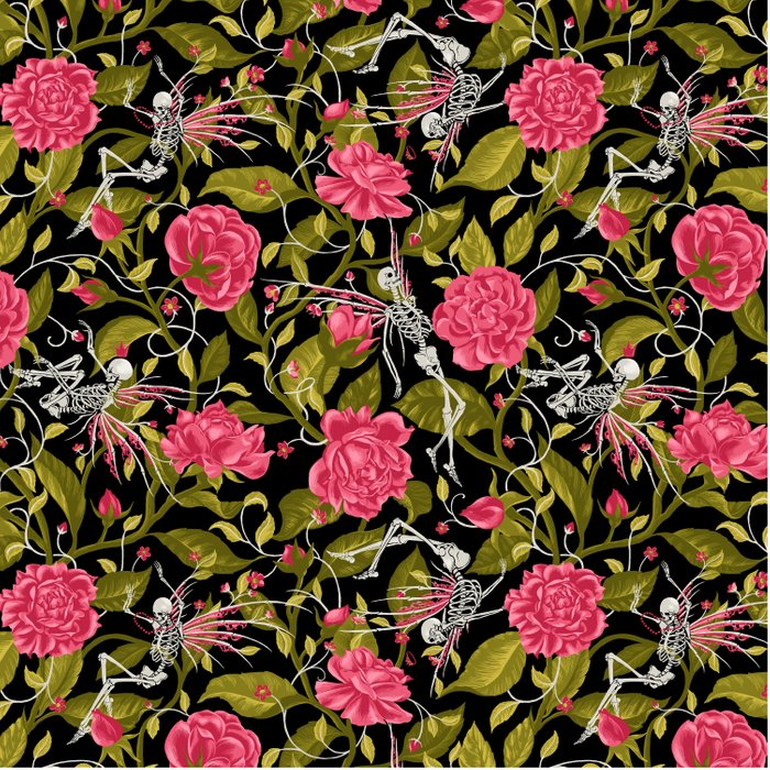 Death of Summer (black and rose) Comforters