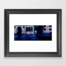 venezia luce della luna 2 Framed Art Print