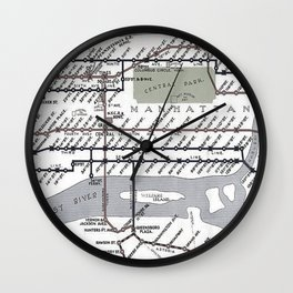 Vintage Subway Wall Clock