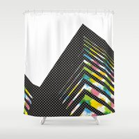 architect Shower Curtains featuring abstract::architect by justlittlebird