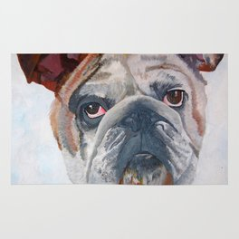 American Bulldog Portrait: Yale Mascot Rug