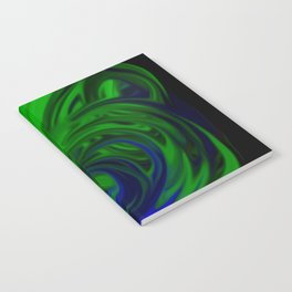 Blue and Green Wave Notebook