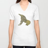 soul eater V-neck T-shirts featuring Egyptian demon - Bone Eater by siloto