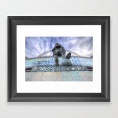 Bobby Moore Statue Wembley Stadium Framed Art Print