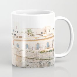 "Travel photography ""Entrance Eivissa Ibiza"" | Printable photo art Spain Coffee Mug"