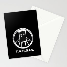 Agents of TARDIS black and white Agents of Shield, Doctor Who mash up Stationery Cards