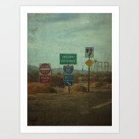 follow the signs Art Print