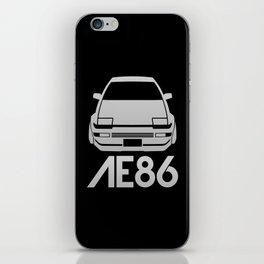 Toyota AE86 Hachi Roku - silver - iPhone Skin