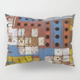 Construction geometric shapes Pillow Sham