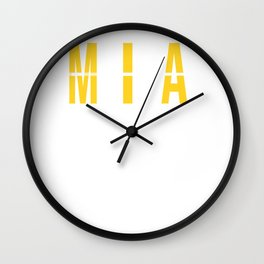 MIA - Miami Airport - Florida - Airport Code Souvenir or Gift Design  Wall Clock