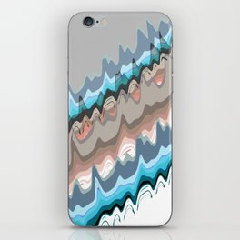 Abstract Meander iPhone Skin