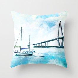 Charleston, South Carolina Throw Pillow
