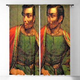 African American Shakespearian actor Ira Aldridge Painting by Henry P. Briggs Blackout Curtain