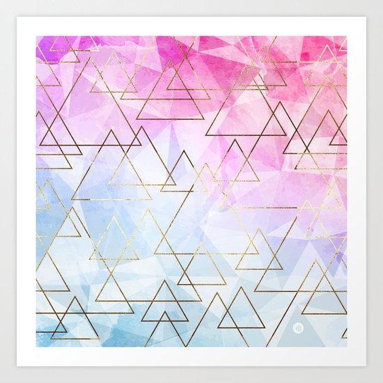 Collage geometric Art Print