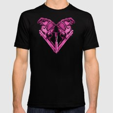 Love Is Death Heart Weapons Mens Fitted Tee Black X-LARGE