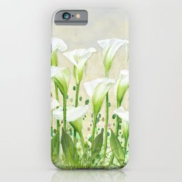 Calla Lily In White iPhone Case