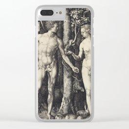 Albrecht Durer - The Fall Of Man (Adam And Eve) Clear iPhone Case