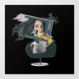 TV woman Canvas Print
