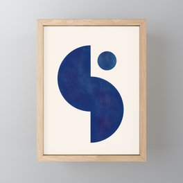 Modern Minimal Abstract Blue #6 Framed Mini Art Print
