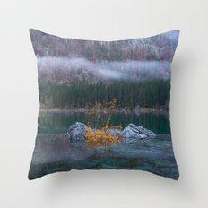 green yellow 3 Throw Pillow