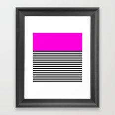STRIPE COLORBLOCK {PINK} Framed Art Print