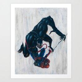 Spider-man & Venom Art Print